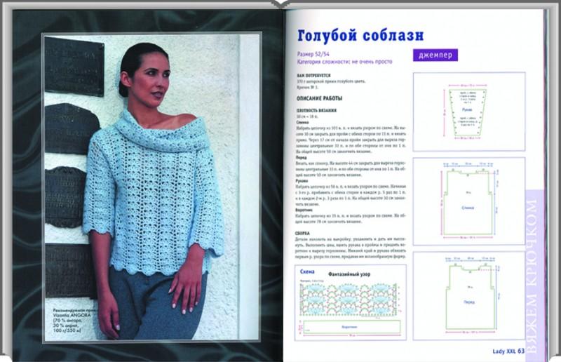 Вязание крючком для полных женщин модные модели 482
